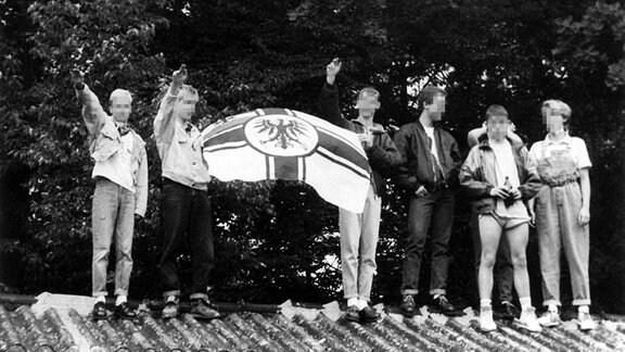 Jugendliche Rechtsextreme in Weimar, 10.08.1991