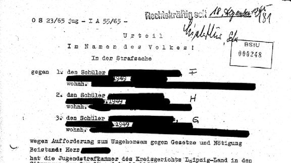 BStU-Dokumente zur Leipziger Beatdemo 1965