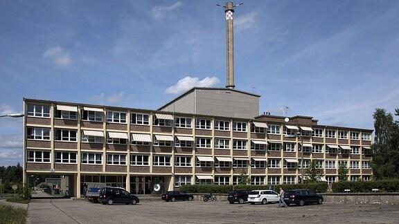 Auߟenansicht des Kernkraftwerkes Rheinsberg bei Menz Landkreis Ostprignitz Ruppin