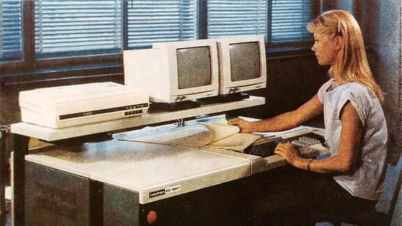 Robotron Computer von 1989.
