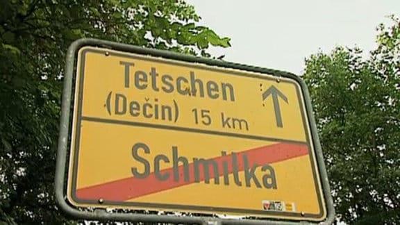 Ortsausgangsschild von Schmilka