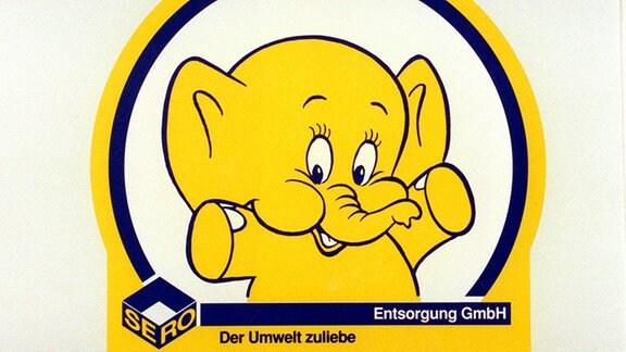 Emmy, der nette Elefant, war und ist das beliebte Sammelsymbol von SERO.