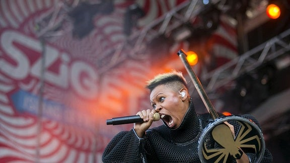 Skunk Anansie beim Sziget Festival in Budapest.