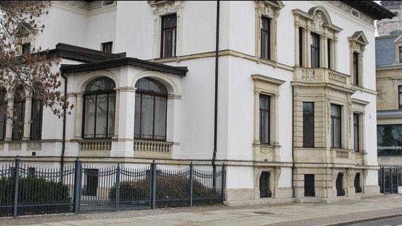 Das alte Leipziger Literaturinstitut in der Karl-Tauchnitz-Straße
