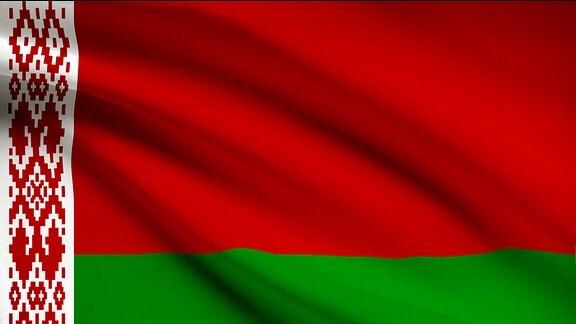 Flagge von Weißrussland.