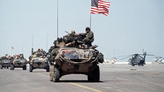 US Marines 1991 auf dem Kuwait International Airport