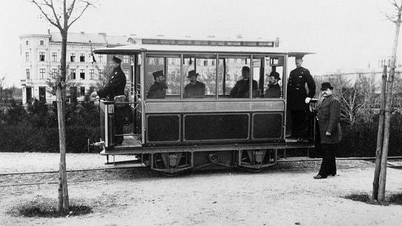 Erste elektrische Straßenbahn in Berlin