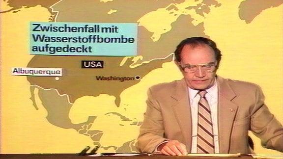 Aktuelle Kamera, DRA, 28.08.1986 - Zwischenfall Wasserstoffbombe USA