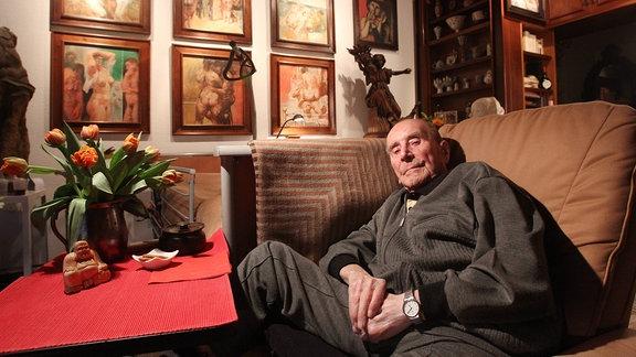 Maler Willi Sitte zu Hause