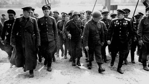 Treffen von US Army und Roter Armee 1945 in Torgau