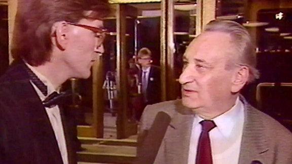 Wahlsendung zur letzten Volkskammerwahl DDR 1990, Egon Bahr
