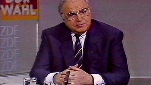 Wahlsendung zur letzten Volkskammerwahl DDR 1990, Helmut Kohl