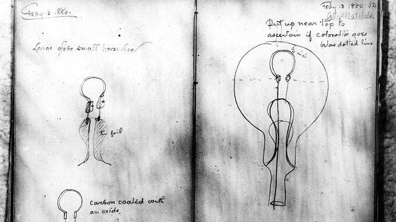 Notizen von Thomas A Edison