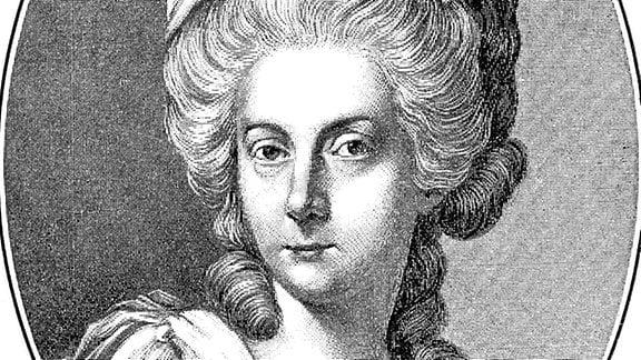 Portrait von Anna Amalia von Braunschweig-Wolfenbüttel, Herzogin von Sachsen-Weimar-Eisenach
