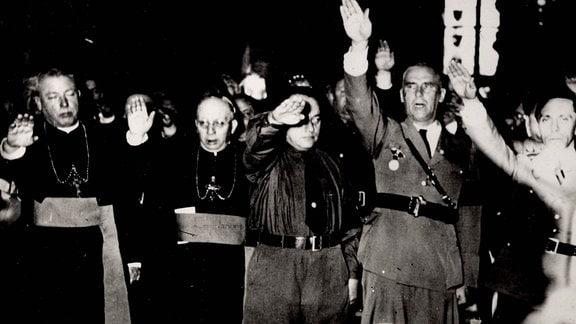Reichsminister des Inneren Wilhelm Frick und Joseph Goebbels