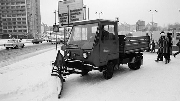 Winterdienst 05.01.1986 in Karl-Marx-Stadt